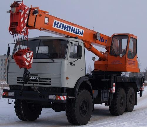 Аренда услуг автокрана 16 тонн в Клине