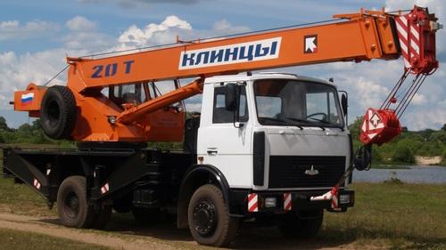 Аренда услуг автокрана 20 тонн в Дрезне
