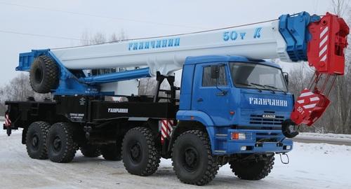 Аренда услуг автокрана 50 тонн в Мытищах