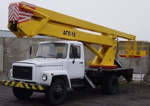 Аренда услуг автовышки 18 метров в Пушкино