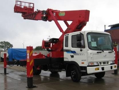 Аренда услуг автовышки 32 метра в Краснозаводске