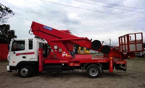 Аренда услуг автовышки 35 метров в Краснозаводске