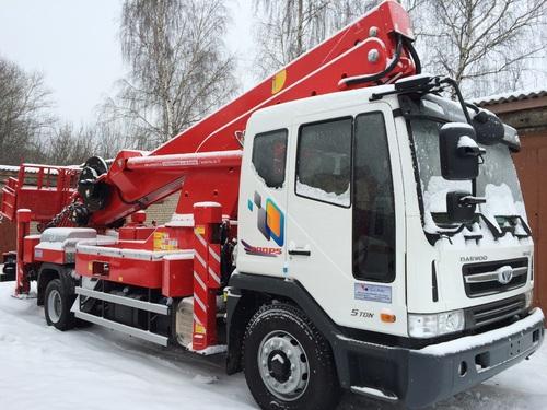 Аренда услуг автовышки 45 метров в Электростали