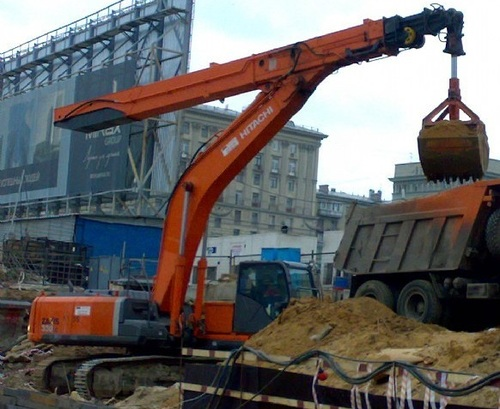 Аренда услуг экскаватора с грейфером в Наро-Фоминске